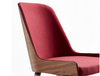 Buy Hudson Side Chair with Modern Curved Walnut Frame | 212Concept