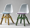 Icon modern dining chair with colorful base