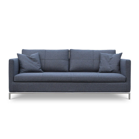 Istanbul modern sofa in dark grey tweed