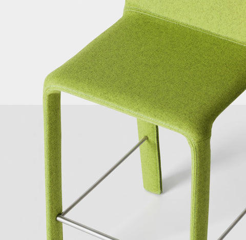 Buy Simplistic Padded Italian Stool with Kvadrat Upholstery | 212Concept