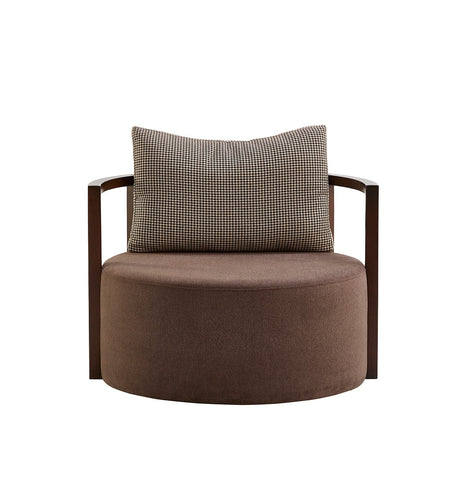 Buy Round Ample Fabric Upholstered Lounge Chair | 212Concept