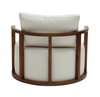 Kav Lounge Chair white fabric back view by B&T Design