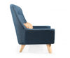 Buy Blue Loveseat with Wing Tip Arms & Wooden Legged | 212Concept