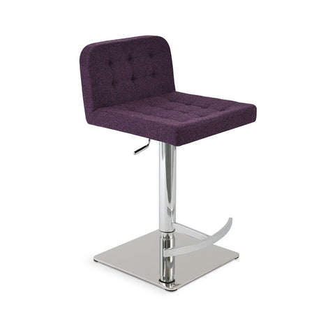 Buy Swivel Adjustable Height Option Purple Wool Stool | 212Concept