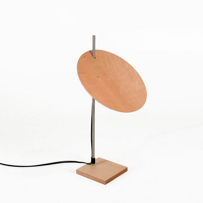 Modern Round Oak Plywood Table Lamp | 212Concept