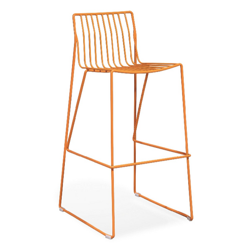 Buy Stainless Steel Orange Light Weight Kitchen Stool | 212Concept