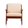 Buy Solid Ash Wood Frame Martelle Lounge Chair in Cream Fabric | 212Concept