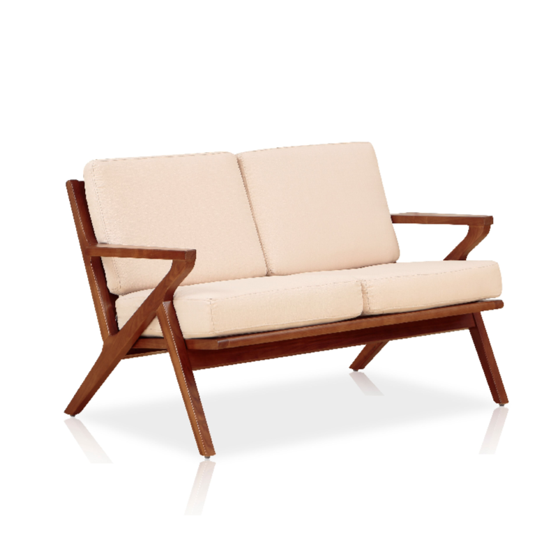 Buy Solid Ash Wood Frame Mid-Century Modern Settee | 212Concept