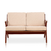 Buy Solid Ash Wood Frame Cream Martelle Settee | 212Concept