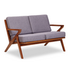 Buy Solid Ash Wood Frame Grey Martelle Settee | 212Concept