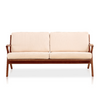 Buy Solid Ash Wood Frame with Cream Fabric Upholstered Martelle Sofa | 212Concept
