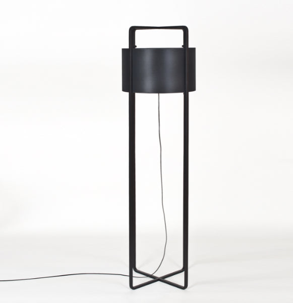 Black Plywood Floor Light by Paulo Ramunni | 212Concept