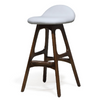 Buy Curvy Padded Seat Mellow Stool With Walnut Wood Legs | 212Concept