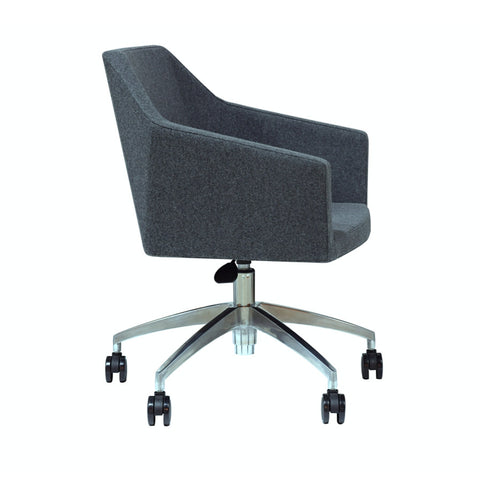 Buy Mercer Modern Desk Chair with grey wool upholstery | 212Concept