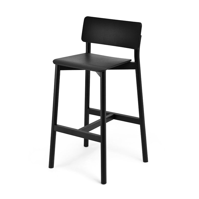 Buy Modern Black Wooden Restaurant Stool | 212Concept