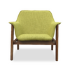 Buy Solid Ash Wood Frame Green Fabric Upholstery Lounge Chair | 212Concept
