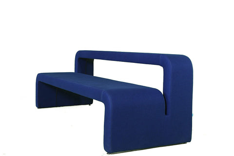 Large Blue Moby Bench