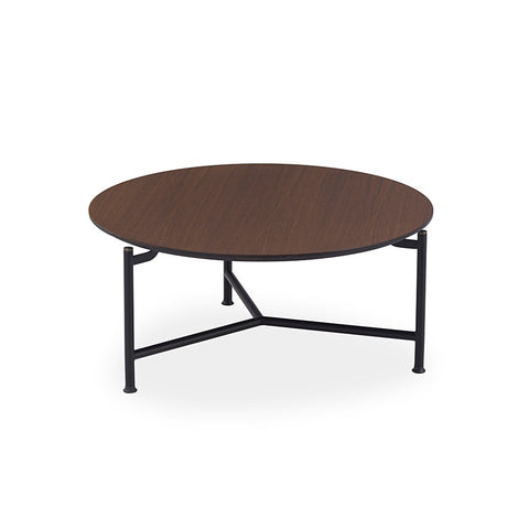 Buy Modern Round Walnut Veneer Modest Coffee Table Set | 212Concept