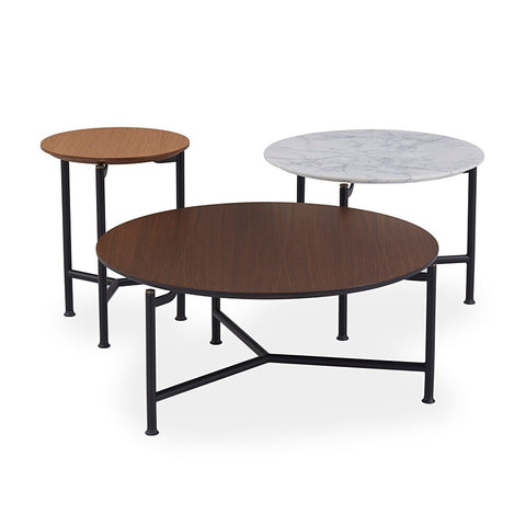 Buy Modern Round Marble Modest Coffee Table Set | 212Concept