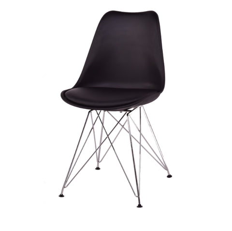 Buy Metal Tower Base Polycarbonate Chair | 212Concept
