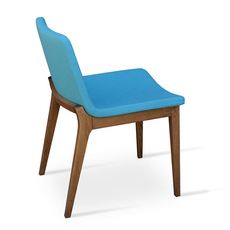 Buy Wool Upholstered Modern Wood Base Side Chair | 212Concept
