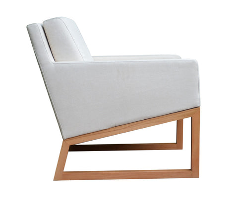 Nova Chair - Wood Base - White Leatherette