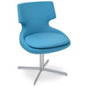 Shop For Sky Blue Wool Patara 4-Star Swivel Chair | 212Concept