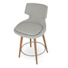 Buy Wide Seat Commercial Patara Wood Legged Bar Stool | 212Concept