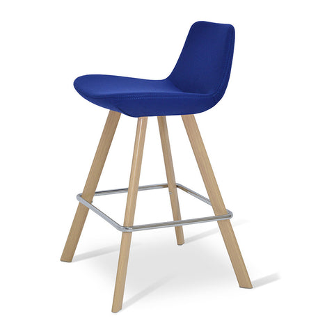 Buy Contemporary Style Veneer Wood Base Pera Stool | 212Concept