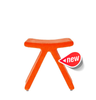 PI Modern Stool Orange Fabric