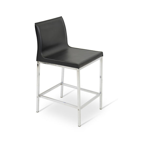Buy Modern Slim Leather Steel Legged Stool | 212Concept