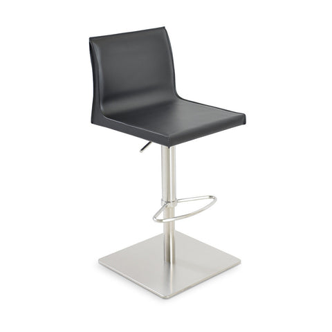 Buy Slim Adjustable Height Leather Kitchen Stool | 212Concept