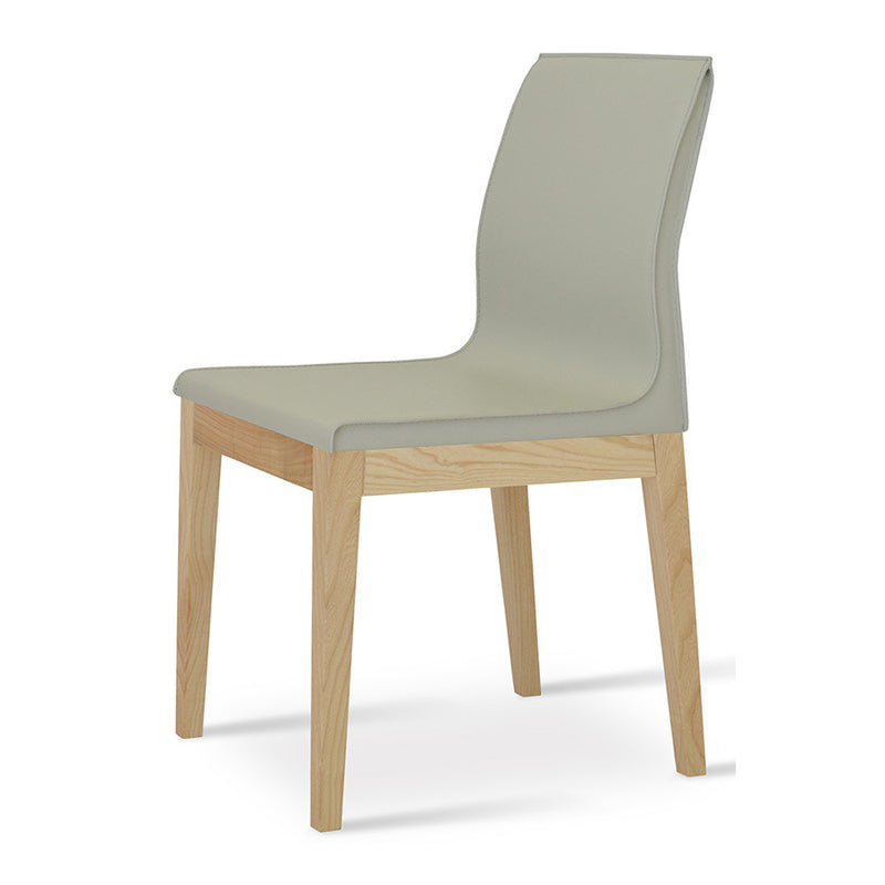 Buy Minimal Bonded Leather Wood Legged Dining Chair | 212Concept