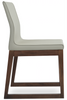 Buy Polo Wooden Sled Base Leather Upholstered Cafe Chair | 212Concept