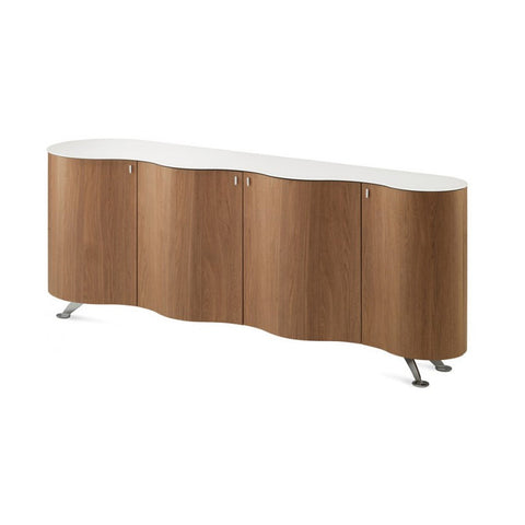 Buy Curvy Wooden Storage in Walnut by Domitalia | 212Concept
