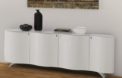 Buy Curvy Wooden Storage in White by Domitalia | 212Concept
