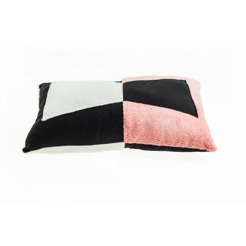 Modern Rectangle Pillow in black and pink