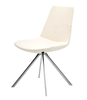 Pera Ellipse modern dining chair in white