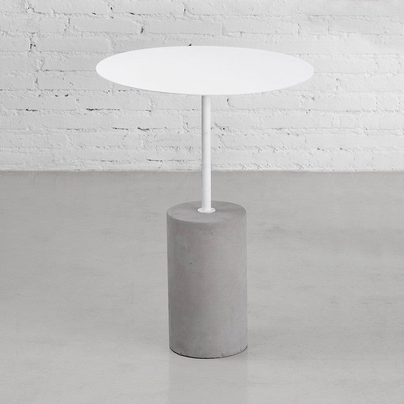 Buy Concrete Base Industrial Side Table Concept - Industrial concrete side table