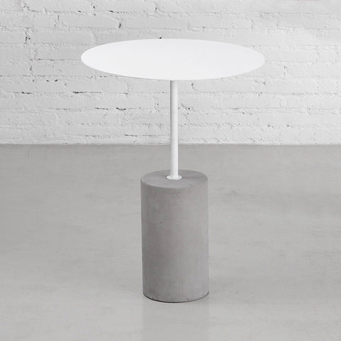 Buy Concrete Base Industrial Side Table | 212Concept
