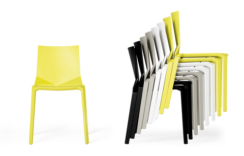 Buy Geometric Shaped Stackable Fluo Green Outdoor Kristalia Chair | 212Concept