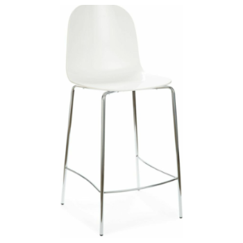 Buy Opaque White Playa-SGB stool by Domitalia