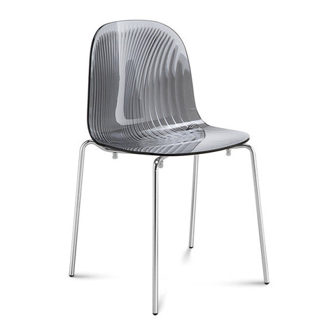 Playa Outdoor Stacking Chair Transparent Fume by Domitalia