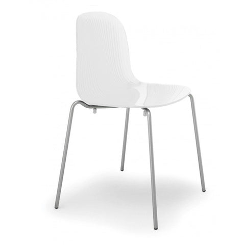 Playa Stacking Chair Opaque White by Domitalia
