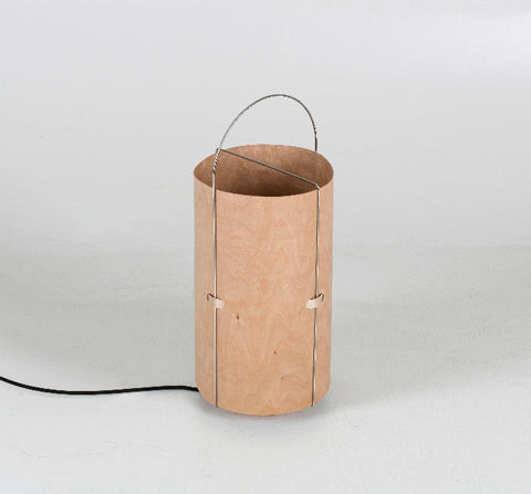 Buy Contemporary Cylinder Shaped Plywood Table Lamp | 212Concept