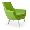 Buy Rebecca 4-Legged Steel Legs Lounge Chair | 212Concept