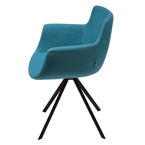 Buy Curved Modern 4-Legged Swivel Rego Armchair | 212Concept