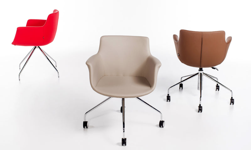 Buy Curved Armchair with Various Base Options | 212Concept