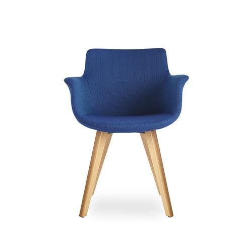 Buy Curved Rego Armchair with Walnut Wood Base | 212Concept