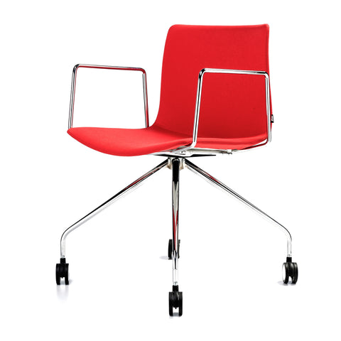 Buy Red Fabric Upholstered Minimal Rest Office Task Chair | 212Concept